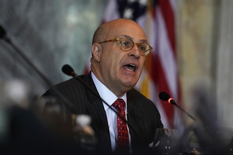 Outgoing CFTC Chair Christopher Giancarlo, affectionately known as 'Crypto Dad', is expecting an 'explosion of interest in cryptocurrencies.' | Source: Alex Wong/Getty Images/AFP