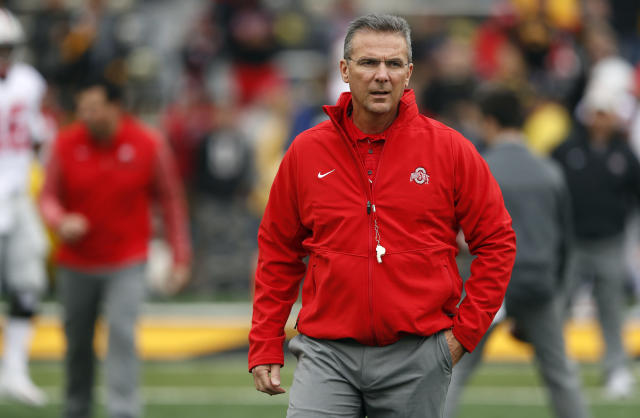 Urban Meyer, now a coach at Ohio State, recently returned from a three-game suspension. Meyer had warned NFL teams against drafting his former player Aaron Hernandez whom he coached at Florida. (AP)