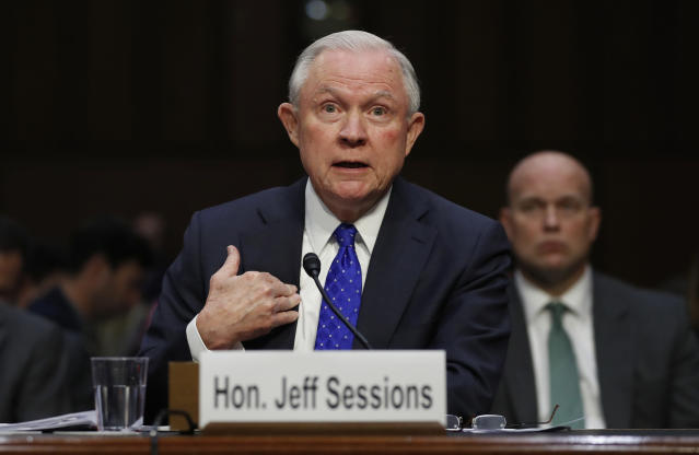 Attorney General Jeff Sessions testifies before the Senate Judiciary Committee on Wednesday. (Photo: Carolyn Kaster/AP)