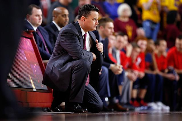 Sean Miller will not coach Saturday against Oregon. (Getty)