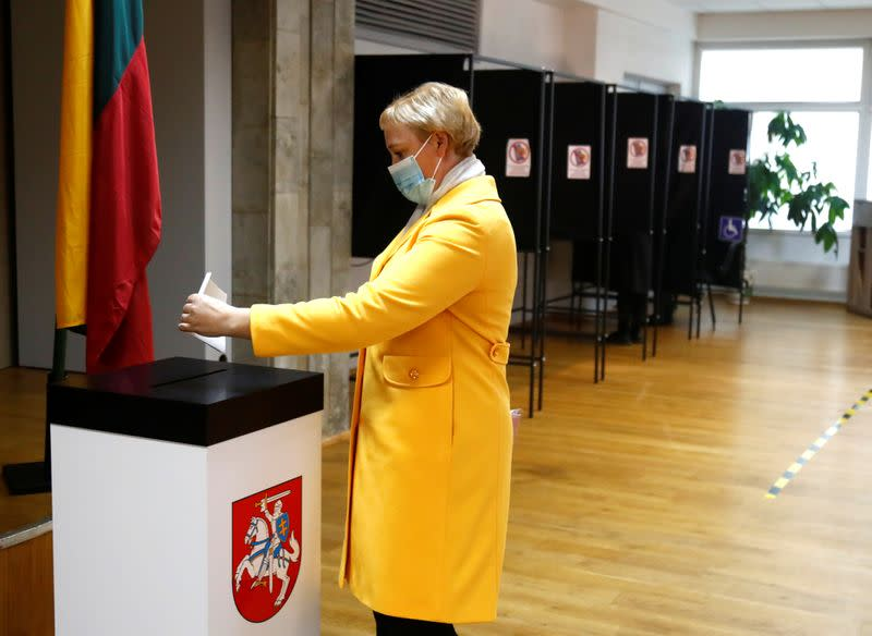 Lithuanian opposition Homeland Union says on track to win election