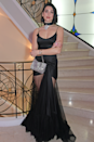 """<p>Dua wore this silky semi-sheer gown to the premiere of And We Go Green at the <a href=""""https://www.cosmopolitan.com/uk/fashion/celebrity/g27463567/cannes-2019-celebrity-fashion/"""" rel=""""nofollow noopener"""" target=""""_blank"""" data-ylk=""""slk:2019 Cannes Film Festival"""" class=""""link rapid-noclick-resp"""">2019 Cannes Film Festival</a>.</p>"""