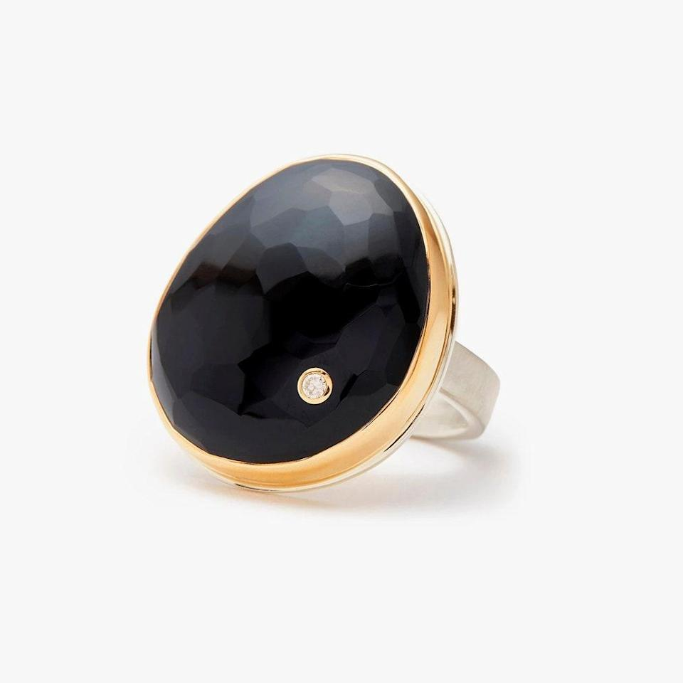 """$1090, GREENWICH ST. JEWELERS. <a href=""""https://www.greenwichjewelers.com/products/rose-cut-black-onyx-ring"""" rel=""""nofollow noopener"""" target=""""_blank"""" data-ylk=""""slk:Get it now!"""" class=""""link rapid-noclick-resp"""">Get it now!</a>"""