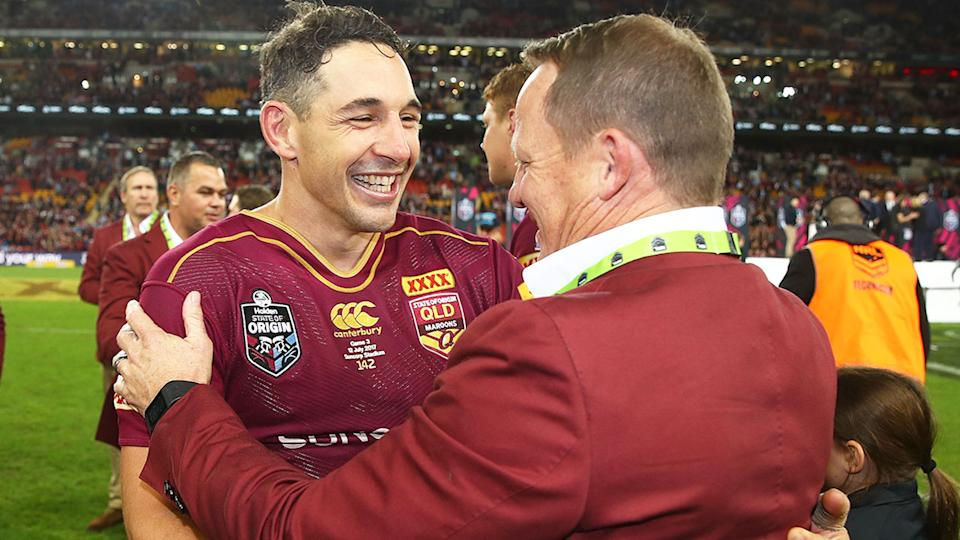 Seen here, new Maroons coach Billy Slater during his Queensland State of Origin playing days.