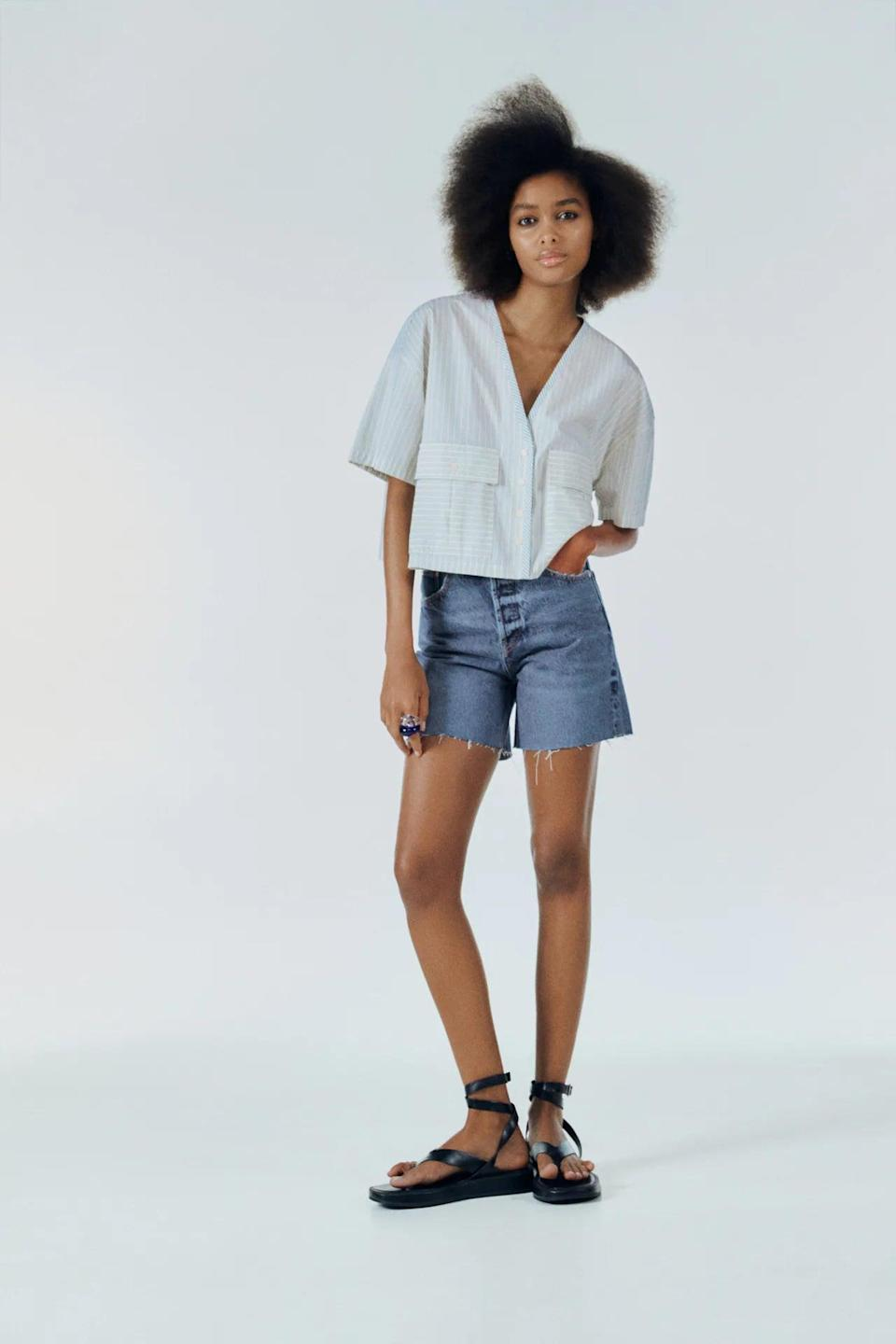 <p>If you're looking for something with a slightly longer hem, go for these <span>Zara Denim Shorts</span> ($36).</p>