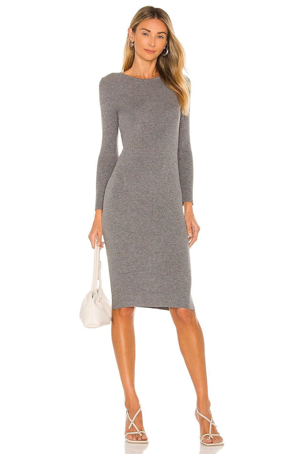 <p>You can't go wrong with the <span>All The Ways Makena Midi Dress in Grey</span> ($64). It's soft and flattering, plus it can be dressed down for a casual day at the pumpkin patch or dressed up for a night out with friends.</p>