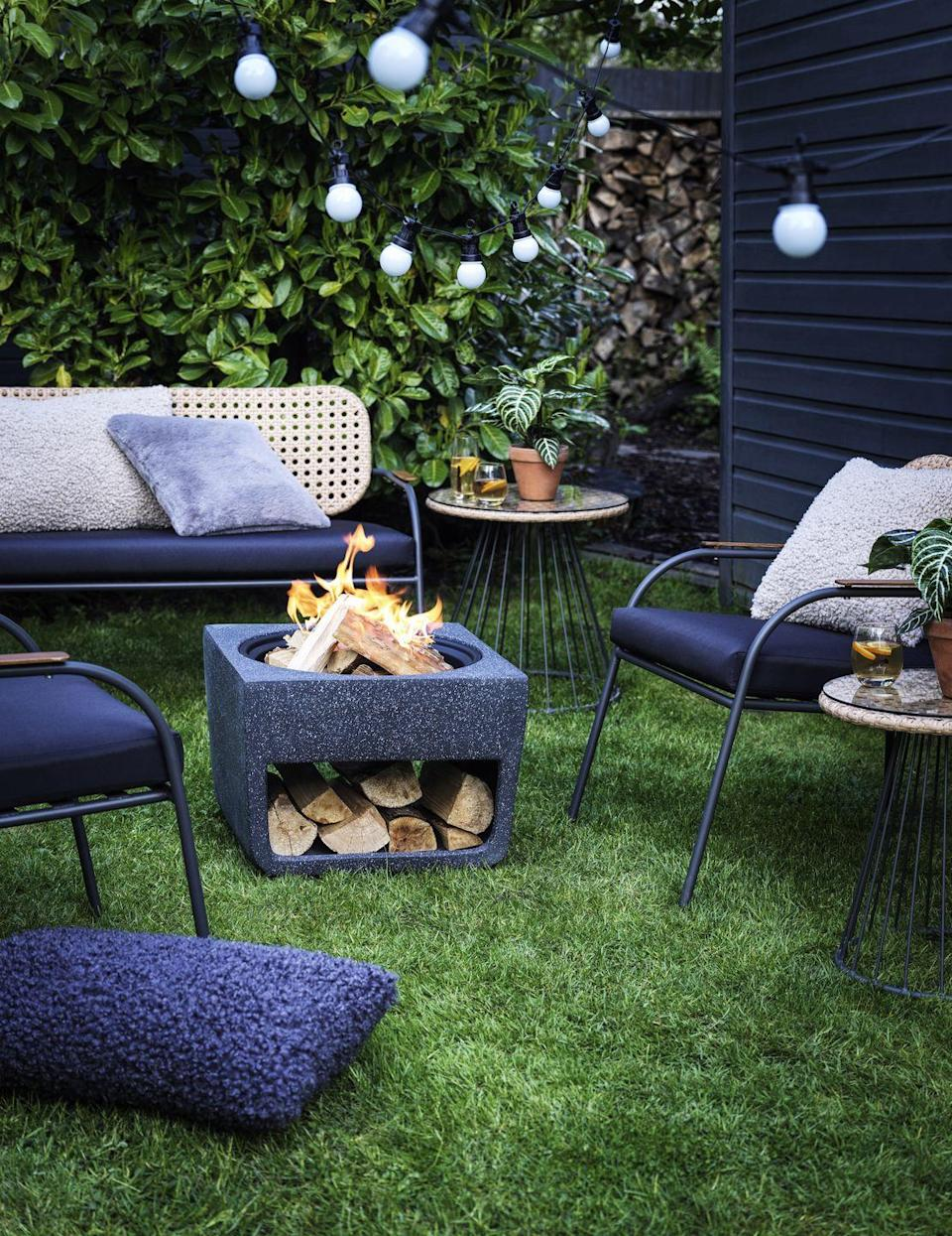"""<p>Grab a cosy blanket and curl up in front of the <a href=""""https://www.housebeautiful.com/uk/garden/g32185721/fire-pit/"""" rel=""""nofollow noopener"""" target=""""_blank"""" data-ylk=""""slk:fire"""" class=""""link rapid-noclick-resp"""">fire</a> this autumn/winter. A staple for summer, expect to see them continue well into the cooler months. </p>"""