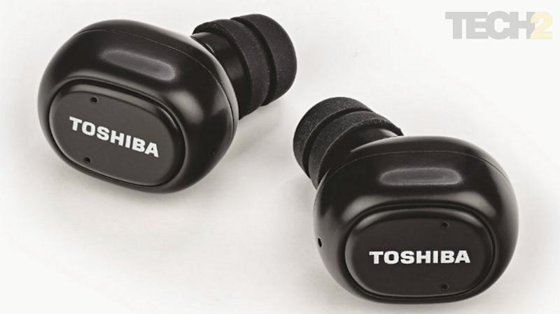 Toshiba claims that the RZE-BT800E are sweat and water resistant but there is no stated IP rating. Image: tech2/ Ameya Dalvi