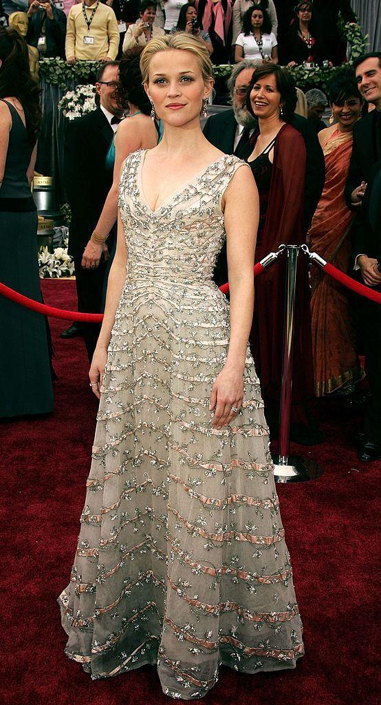 <p>The Big Little Lies star wore a vintage Christian Dior gown to receive her Best Actress Oscar for her lead role in Walk The Line. </p>