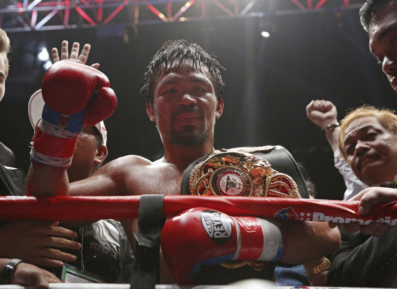 'Smoking hot' Pacquiao, 39, rolls back years to knock out Matthysse