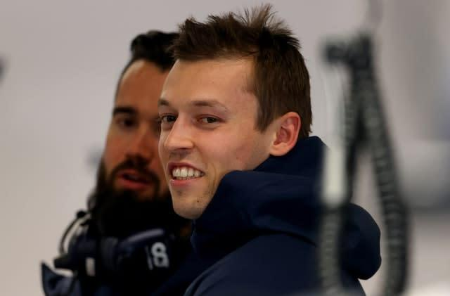 Daniil Kvyat remains with the rebranded AlphaTauri' (David Davies/PA)