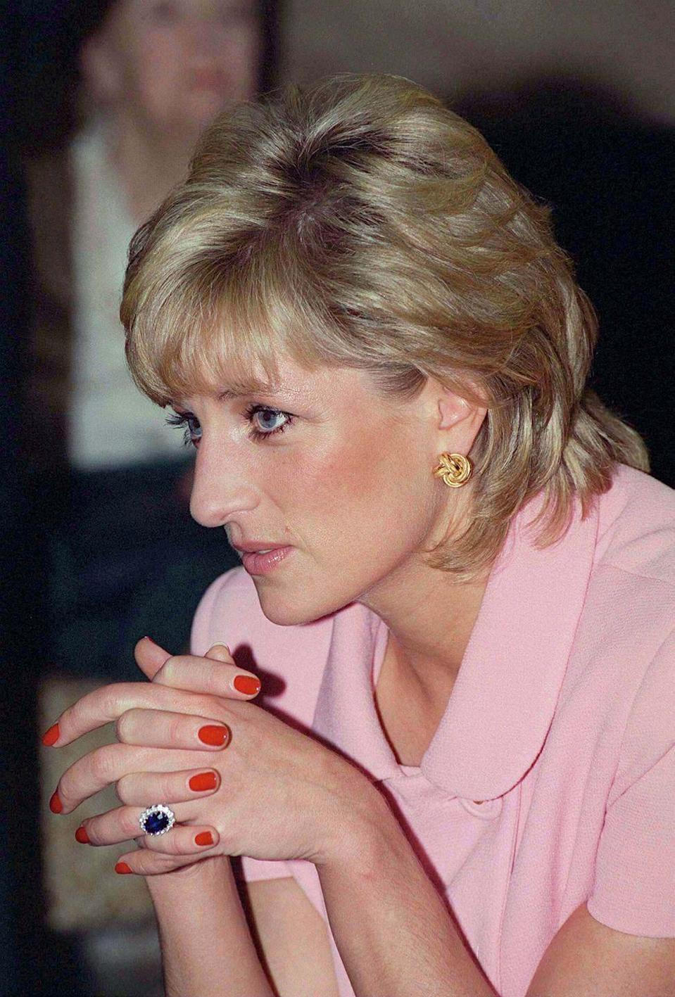 <p>Princess Diana on an official tour of Argentina in 1995. </p>