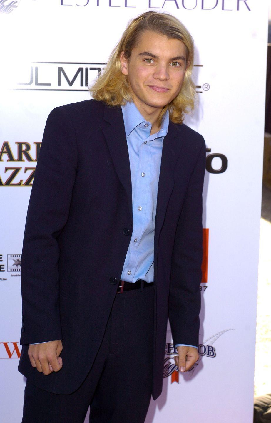 <p>Fans were surprised when Emile Hirsch arrived on the red carpet with blonde <em>and </em>long hair. It turns out, the actor was transitioning to a look for his role in <em>Lords of Dogtown</em>. </p>