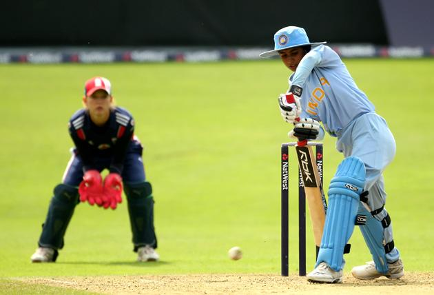 Indian captain Mithali Raj in action during the first Natwest Womens Series one day international between England and India at Bath Cricket Club on August 30, 2008 in Bath, England.  (Photo by Richard Heathcote/Getty Images)