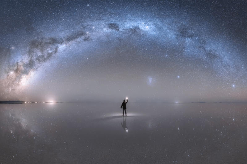 NASA Features Incredible Reflection of Milky Way on 'World's Largest Mirror' in Bolivia