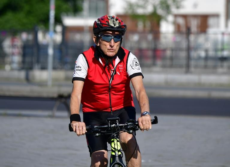 Israeli Paul Alexander is doing the 600-mile (1,000-kilometre) bike journey from Berlin to London