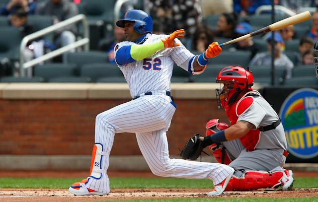 In 89 plate appearances this season, Yoenis Cespedes has punched out 37 times. (Getty)