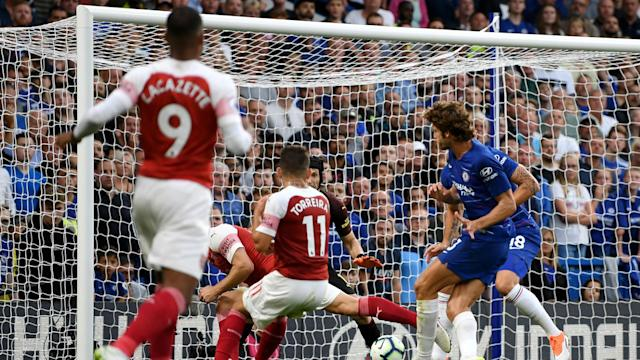 A brave Arsenal comeback proved fruitless as Marcos Alonso scored a late winner for Chelsea in a five-goal thriller.