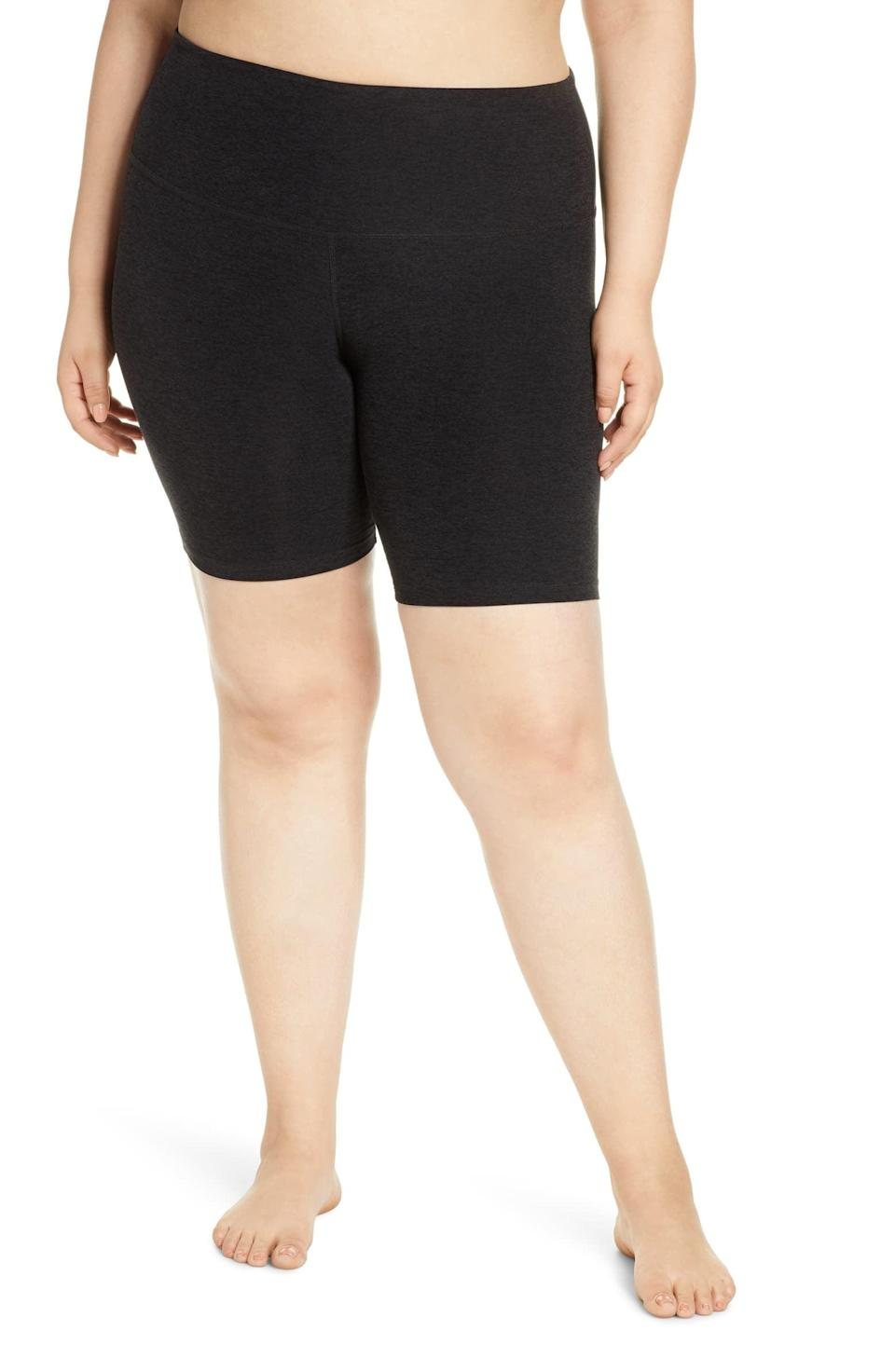 <p>You're going to want to live in these <span>Beyond Yoga High Waist Bopo Bike Shorts</span> ($68).</p>
