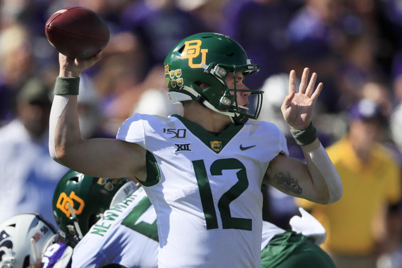 QB Brewer cleared for No. 22 Baylor after taking hard hit