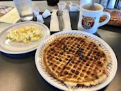 """<p><a href=""""https://www.yelp.com/biz/waffle-house-long-beach"""" rel=""""nofollow noopener"""" target=""""_blank"""" data-ylk=""""slk:Waffle House"""" class=""""link rapid-noclick-resp"""">Waffle House</a> in Long Beach</p><p><a href=""""http://www.delish.com/food-news/a45579/the-craziest-things-that-happened-at-waffle-house/"""" rel=""""nofollow noopener"""" target=""""_blank"""" data-ylk=""""slk:Some crazy events"""" class=""""link rapid-noclick-resp"""">Some crazy events</a> have gone down at <a href=""""http://www.delish.com/restaurants/g3220/waffle-house-facts/"""" rel=""""nofollow noopener"""" target=""""_blank"""" data-ylk=""""slk:Waffle House"""" class=""""link rapid-noclick-resp"""">Waffle House</a> establishments across the country, but this one remains a local favorite in Mississippi. With cheap and consistently good food—especially their crispy-edged waffles — plus a view of the beach, what's not to like?</p>"""