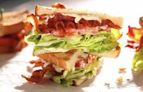 """<p>When the lunch recipe rut kicks in, BLTs are a tried-and-true option. Once you've assembled the bacon, lettuce and tomato, why not take it up a notch? Lobster adds a sweet and tender element that effortlessly complements the fatty, salty bacon and bright veggies.</p> <p><a href=""""https://www.thedailymeal.com/recipes/lobster-blt?referrer=yahoo&category=beauty_food&include_utm=1&utm_medium=referral&utm_source=yahoo&utm_campaign=feed"""" rel=""""nofollow noopener"""" target=""""_blank"""" data-ylk=""""slk:For the Lobster BLT recipe, click here."""" class=""""link rapid-noclick-resp"""">For the Lobster BLT recipe, click here.</a></p>"""