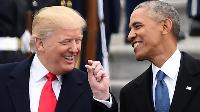 The last president with the current one.