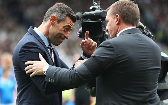 <span>Pedro Caixinha took on Brendan Rodgers for the first time in the Scottish Cups semi-final last week</span> <span>Credit:  Ian MacNicol/Getty Images) </span>