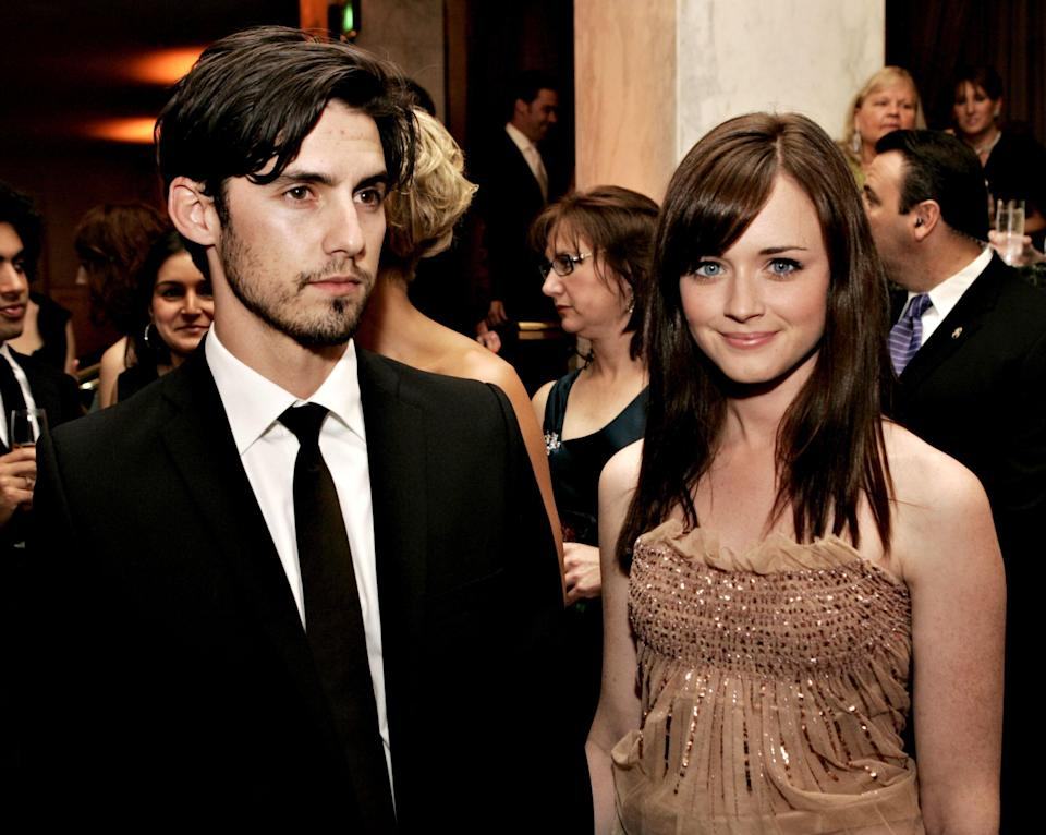 Alexis Bledel is a repeat offender when it comes to dating costars, but can you blame her? It would take a lot of willpower to ignore Milo Ventimiglia's charm—even Rory Gilmore didn't stand a chance. Whether you were a fan of Logan, Dean, or Jess is irrelevant because we all know who Bledel was rooting for at the time.