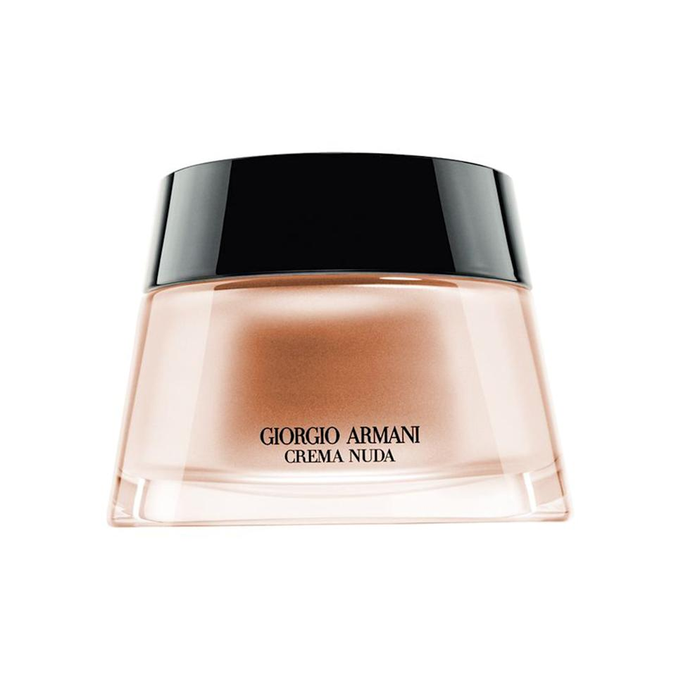 """<p>""""Giorgio Armani Crema Nuda is super hydrating. I love how it blends and never settles into the lines. Plus, it comes in a great range of skin tones."""" —<em>makeup artist <a rel=""""nofollow"""" href=""""http://www.allure.com/topic/vincent-oquendo?mbid=synd_yahoobeauty"""">Vincent Oquendo</a>, who has worked with Bella Hadid, Ashley Graham, and <a rel=""""nofollow"""" href=""""http://www.allure.com/story/paris-jackson-makeup-daily-front-row-fashion-awards?mbid=synd_yahoobeauty"""">Paris Jackson</a></em></p><p>$200 (<a rel=""""nofollow"""" href=""""http://www.giorgioarmanibeauty-usa.com/makeup/foundation/liquid-foundation/crema-nuda/A211.html?mbid=synd_yahoobeauty"""">giorgioarmanibeauty-usa.com</a>).</p>"""
