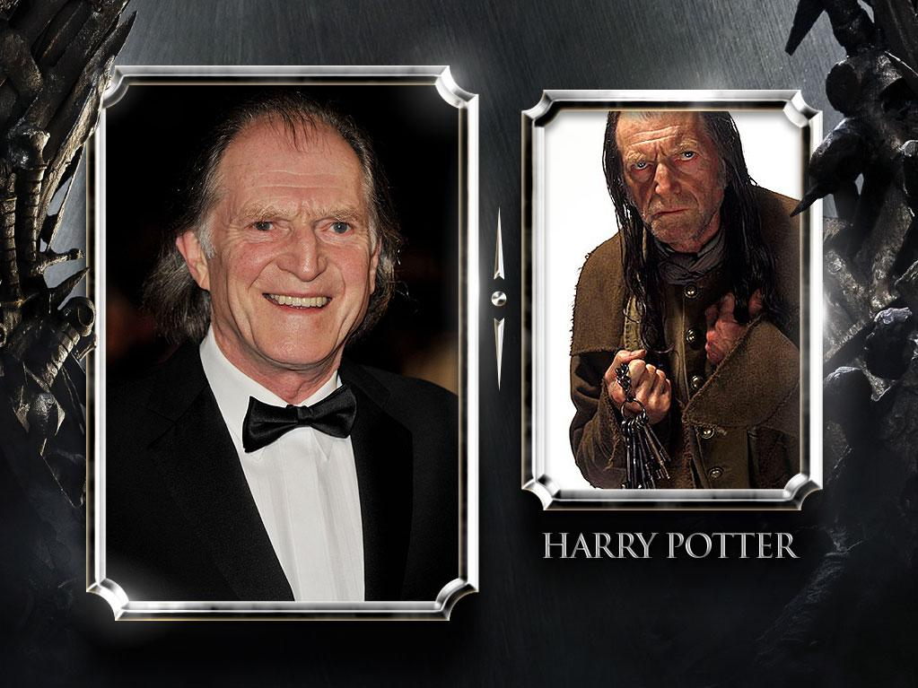 """<a href=""""/david-bradley/contributor/52360"""">David Bradley</a> — Current Role: Walder Frey, the elderly head of the House of Frey. // Prior Geek Roles: While Bradley doesn't have a long screen resume, his appearance in seven of the eight """"<a href=""""http://movies.yahoo.com/movie/1802813191/info"""" rel=""""nofollow"""">Harry Potter</a>"""" films — playing head groundskeeper Argus Filch — earns him a spot on this list. <a href=""""http://www.televisionwithoutpity.com/show/game_of_thrones/game_of_thrones_the_casts_geek.php?__source=tw