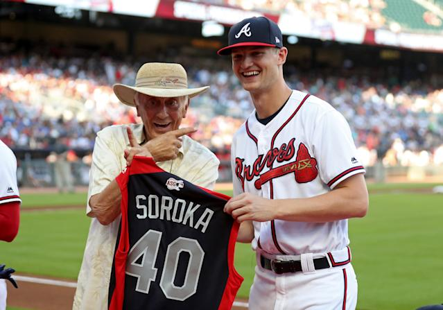 Atlanta Braves starting pitcher Mike Soroka made his first All-Star team in 2019. (USA TODAY Sports)