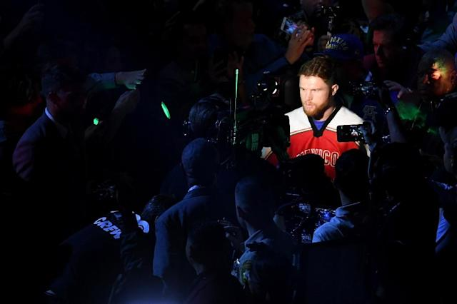 A planned rematch in May between Canelo Alvarez (pictured) and Gennady Golovkin was cancelled when Alvarez failed a drug test which the Mexican's camp blamed on contaminated meat (AFP Photo/Ethan Miller)