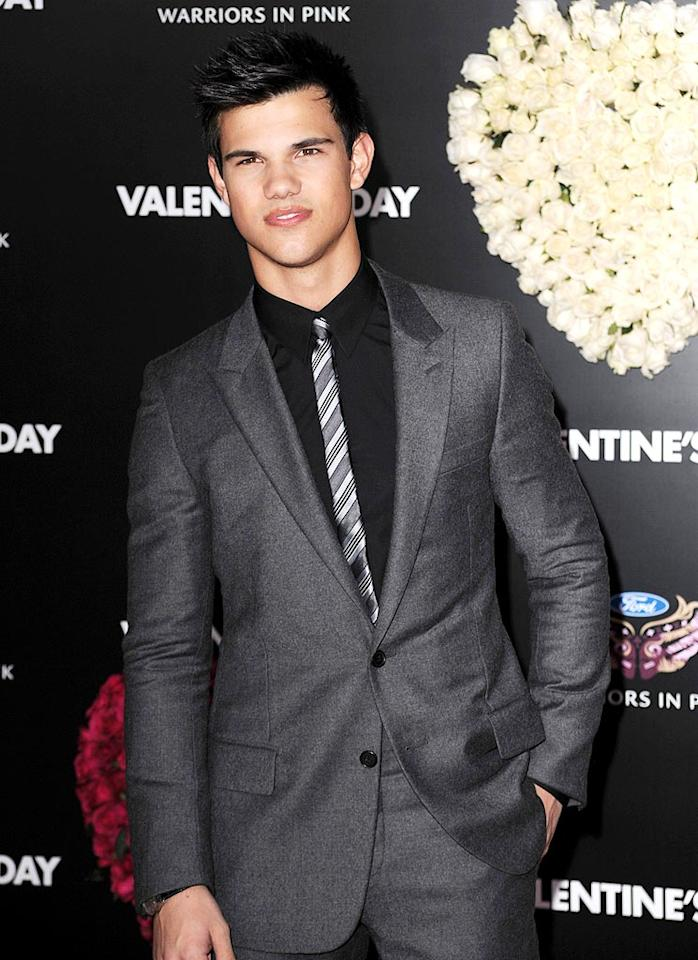 "February 11: Taylor Lautner turns 19 Steve Granitz/<a href=""http://www.wireimage.com"" target=""new"">WireImage.com</a> - February 8, 2010"