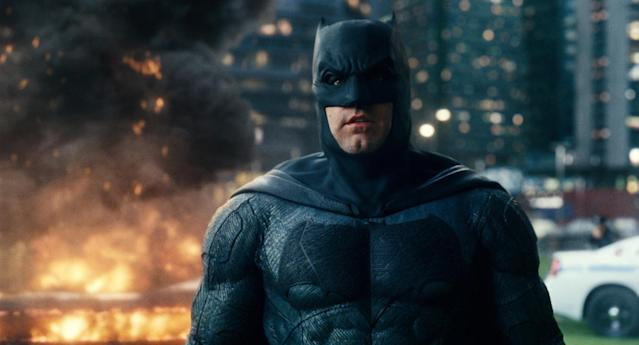 Ben Affleck as Batman in <em>Justice League</em>, the last time he played the Dark Knight. (Photo: Warner Bros. Pictures /Courtesy Everett Collection)