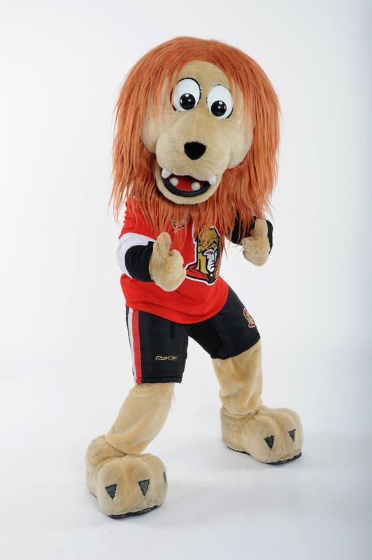 OTTAWA, ON - JANUARY 26: Spartacat, mascot for the Ottawa Senators poses for a portrait during 2012 NHL All-Star Weekend at Ottawa Convention Centre on January 26, 2012 in Ottawa, Canada. (Photo by Matt Zambonin/Freestyle Photo/Getty Images)