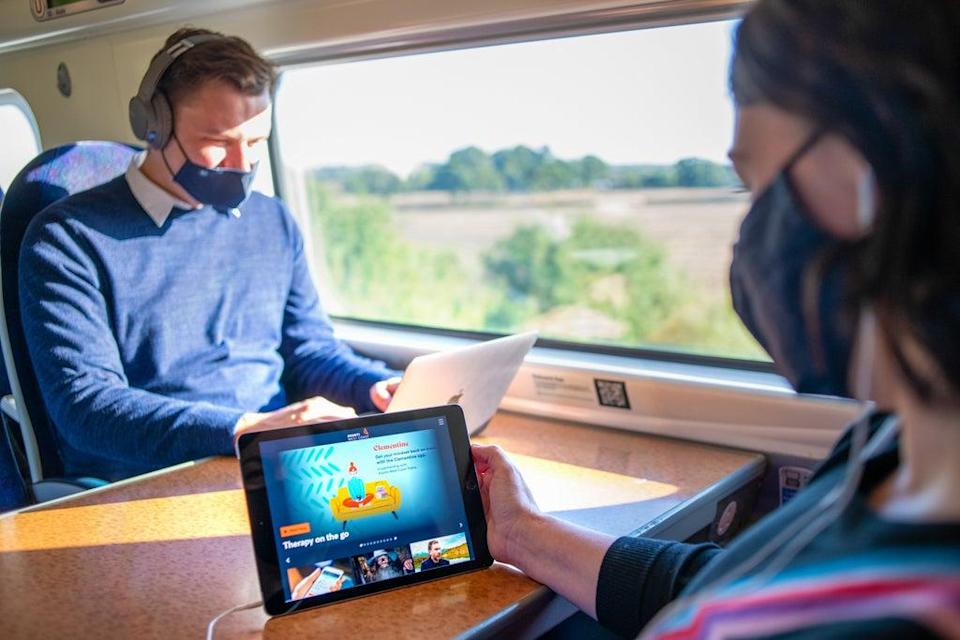 Tired and stressed rail passengers are being offered hypnotherapy sessions to help them get 'into the right mindset' (Avanti West Coast/PA)