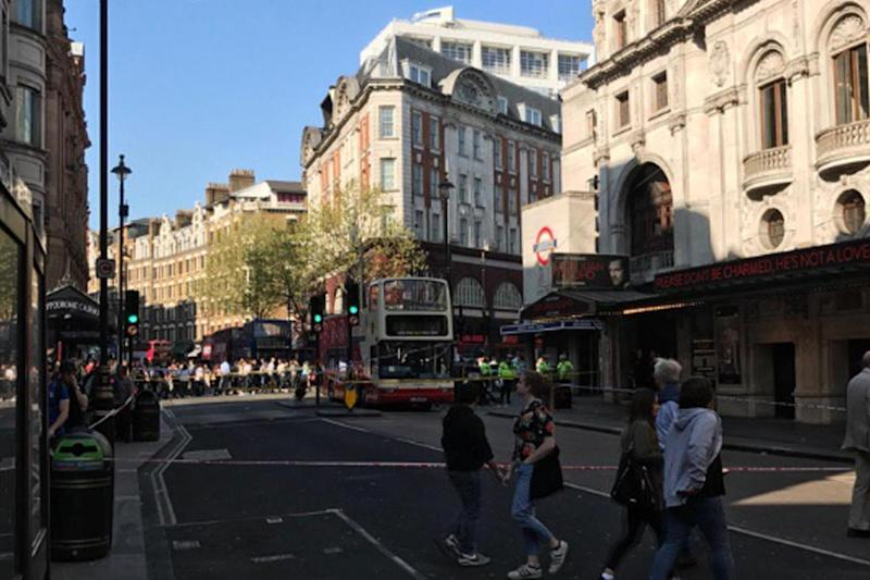 Charing Cross Road was closed for two hours on Saturday afternoon: @pattendensteve