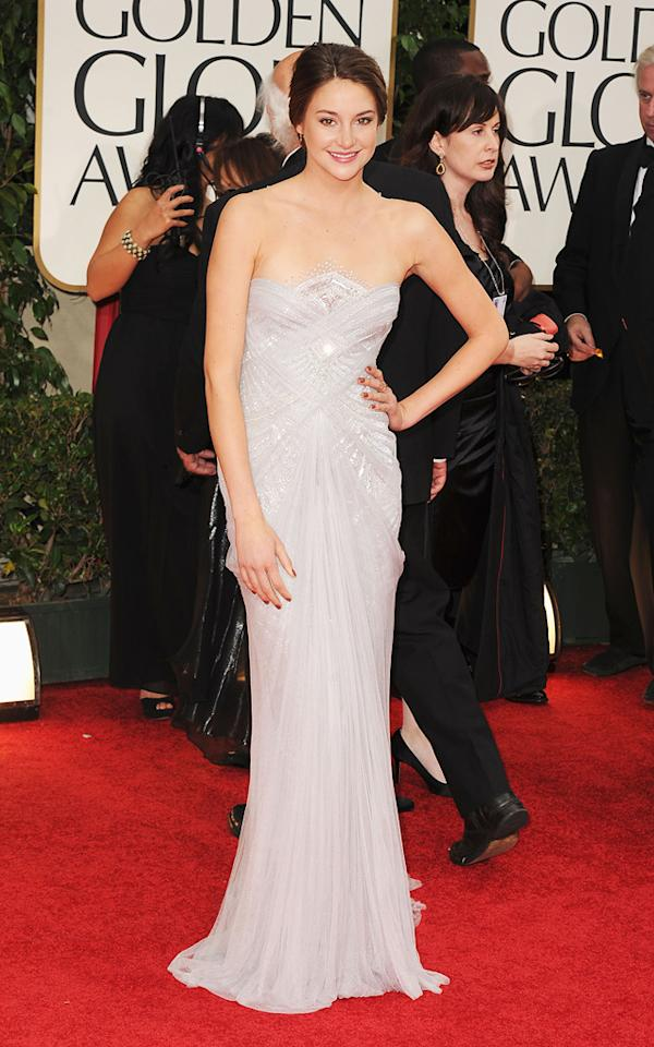 Shailene Woodley arrives at the 69th Annual Golden Globe Awards in Beverly Hills, California, on January 15.