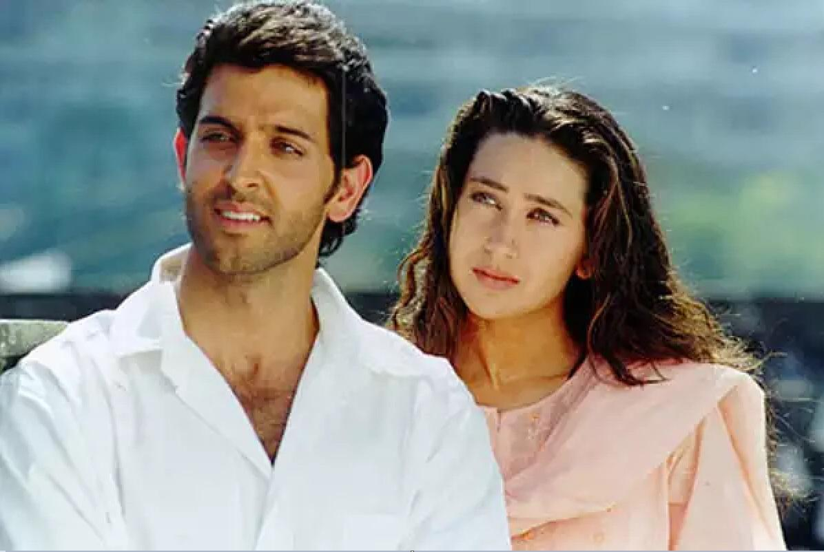 This was one of the first films of Hrithik Roshan and one of Karisma's last. The two A-listers seen here, were playing siblings.