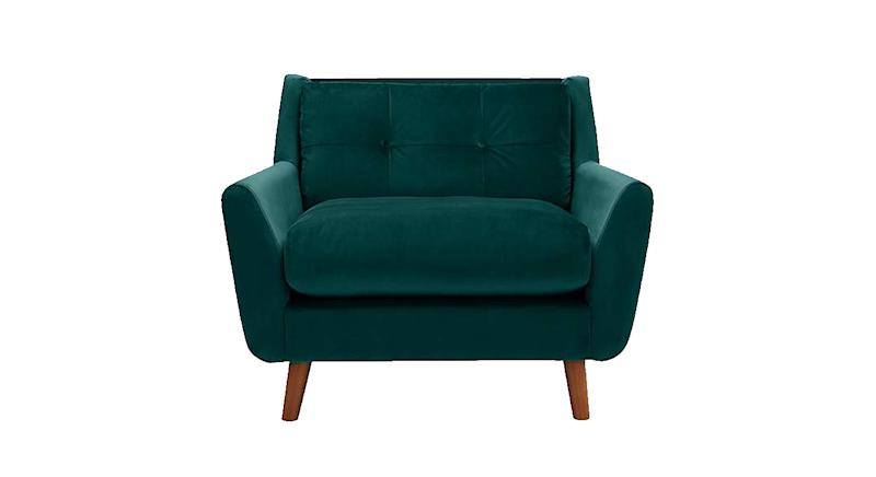 Halston Velvet Snuggle Chair