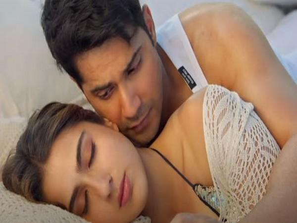Varun Dhawan and Sara Ali Khan in a still from song 'Tere Siva'