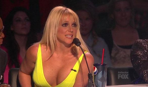 PHOTO: Britney Spears Shows Off Cleavage As Demi Lovato And Simon Cowell Continue To Bicker