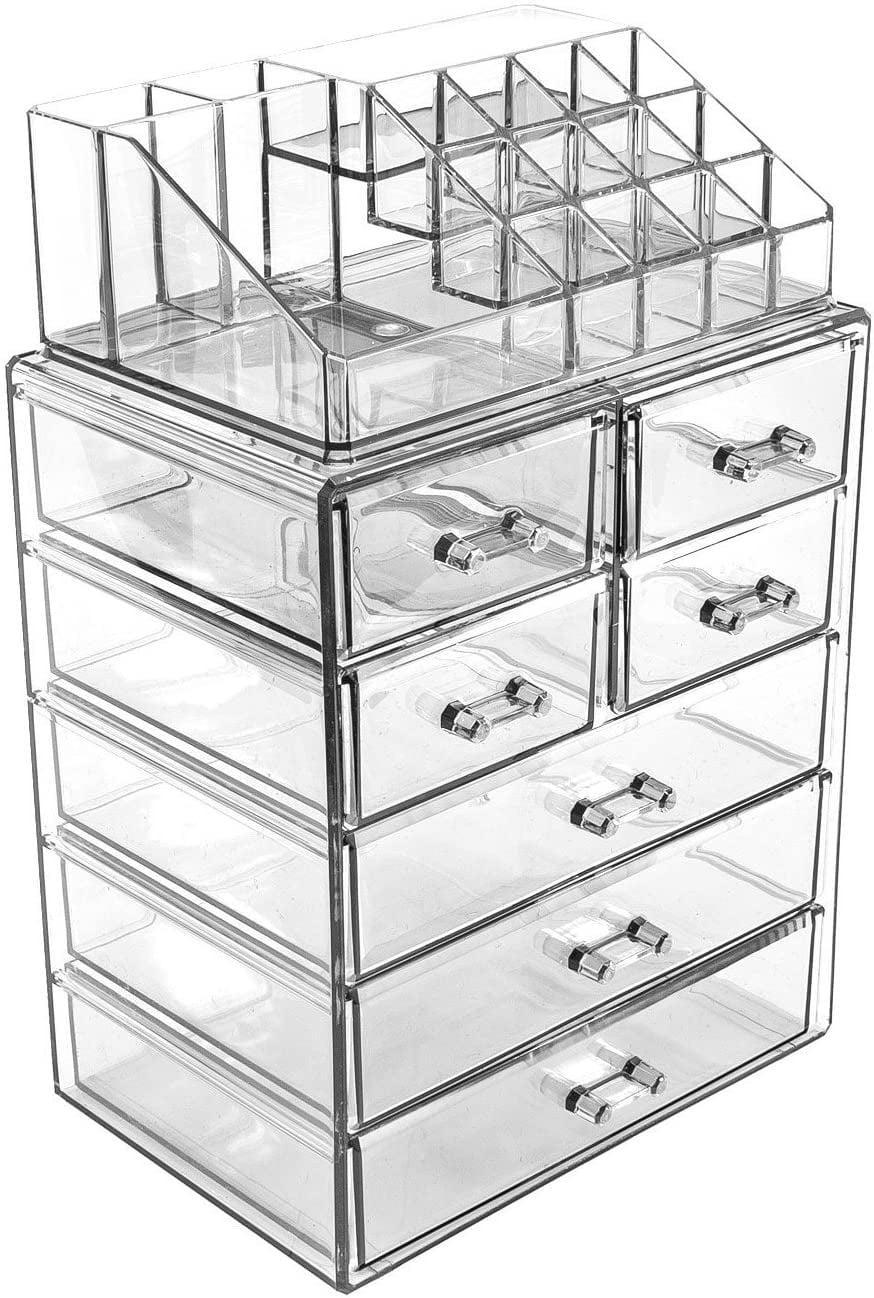 <p>Customize your set up with these <span>Sorbus Cosmetic Makeup Storage (3 Large, 4 Small Drawers)</span> ($28).</p>