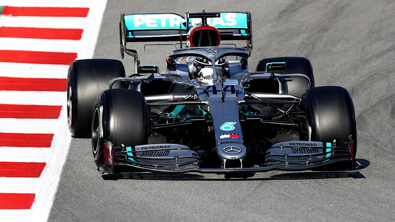 Lewis Hamilton, pictured here in action on day two of F1 Winter Testing in Barcelona.
