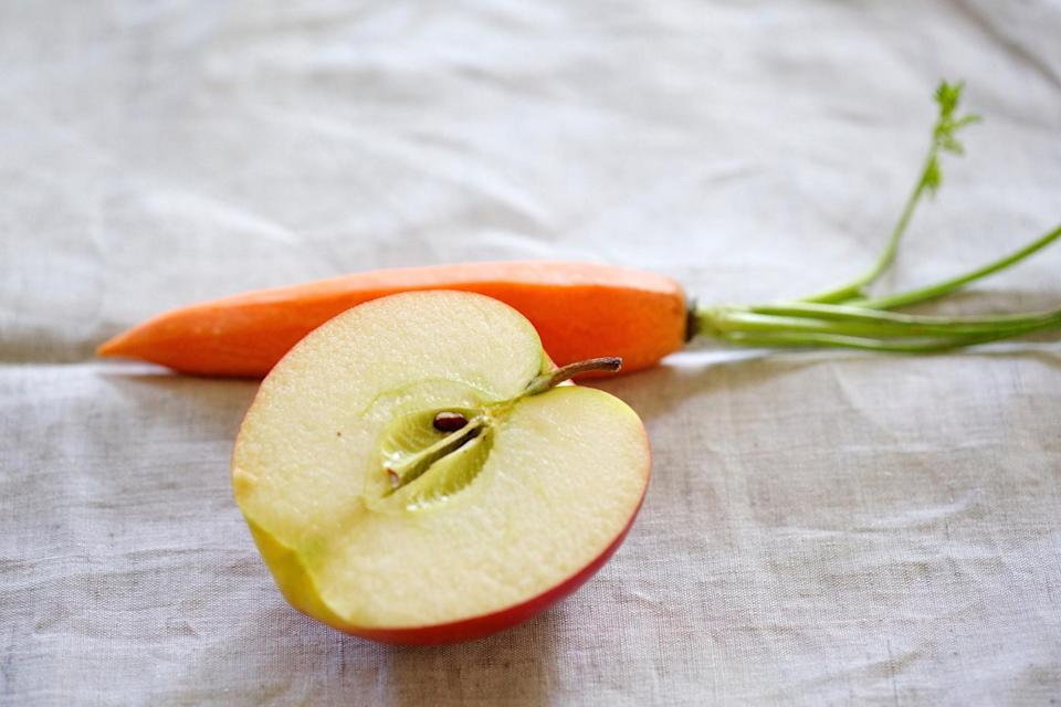 The only snacks you can have is either a carrot or an apple. Source: Getty