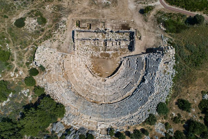 The only buildings encroaching on the white sands of Patara are the extensive remains of an ancient city - getty