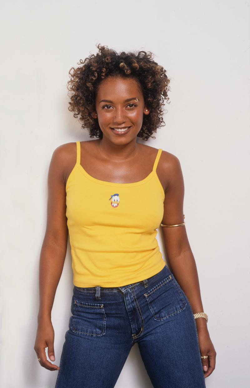 British singer-songwriter and member of the Spice Girls Mel B (Melanie Brown), circa 1998. (Photo by Tim Roney/Getty Images)