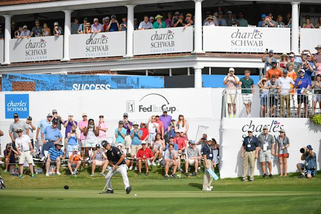 The PGA Tour has slated the Charles Schwab Challenge at Colonial Country Club in Fort Worth, Texas, as its return to play on June 8. (Ben Jared/PGA TOUR)