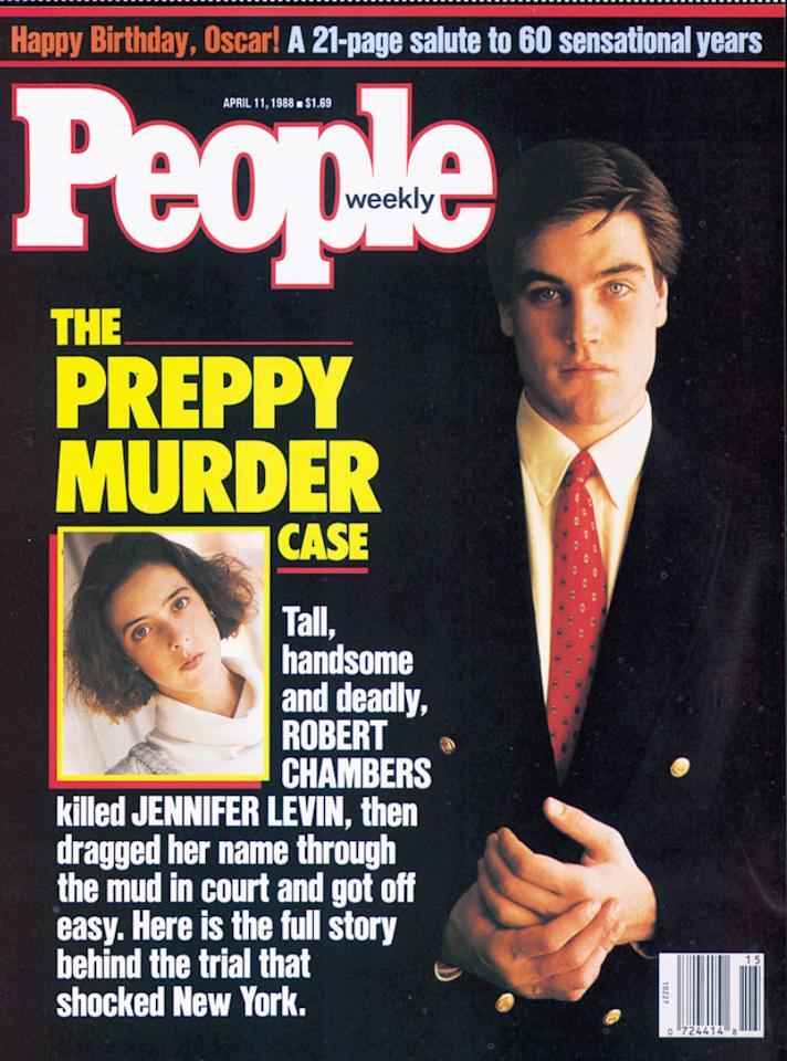 """<p>It was a shocking crime that first made headlines in New York City – In August 1986, 18-year-old Jennifer Levin was found by a cyclist in Central Park. She had been strangled. Arrested for the crime: Robert Chambers, a handsome 20-year-old who had attended several prep schools and spent a semester at Boston University.  The case was soon dubbed """"The Preppy Murder"""" and became a daily fixture in newspapers and on tabloid television.  Chambers was charged with two counts of manslaughter. His defense argued that Levin's death had occurred during """"rough sex.""""  After the jury deadlocked, Chambers pleaded guilty to manslaughter and was sentenced to 5 to 15 years in prison. He was released in 2003 – but soon found himself in trouble again when he was arrested for selling drugs out of his New York apartment.  In 2008, he was sentenced to 19 years in jail. His earliest release date from prison is Jan. 25, 2024.</p>"""